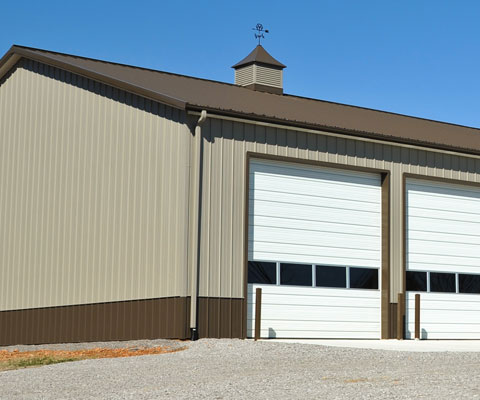 commercial gutter systems post frame pole barns london ontario