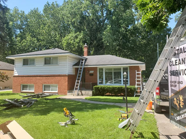 gutter eavestrough replacement installation london ontario